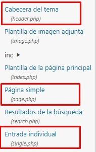 header page y single php
